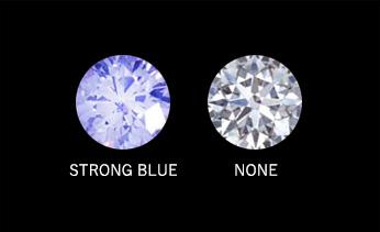 蛍光色を発するダイヤの写真