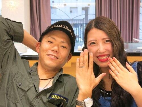 とてもキレイな指輪を旦那様にプレゼントしてもらって幸せです☆
