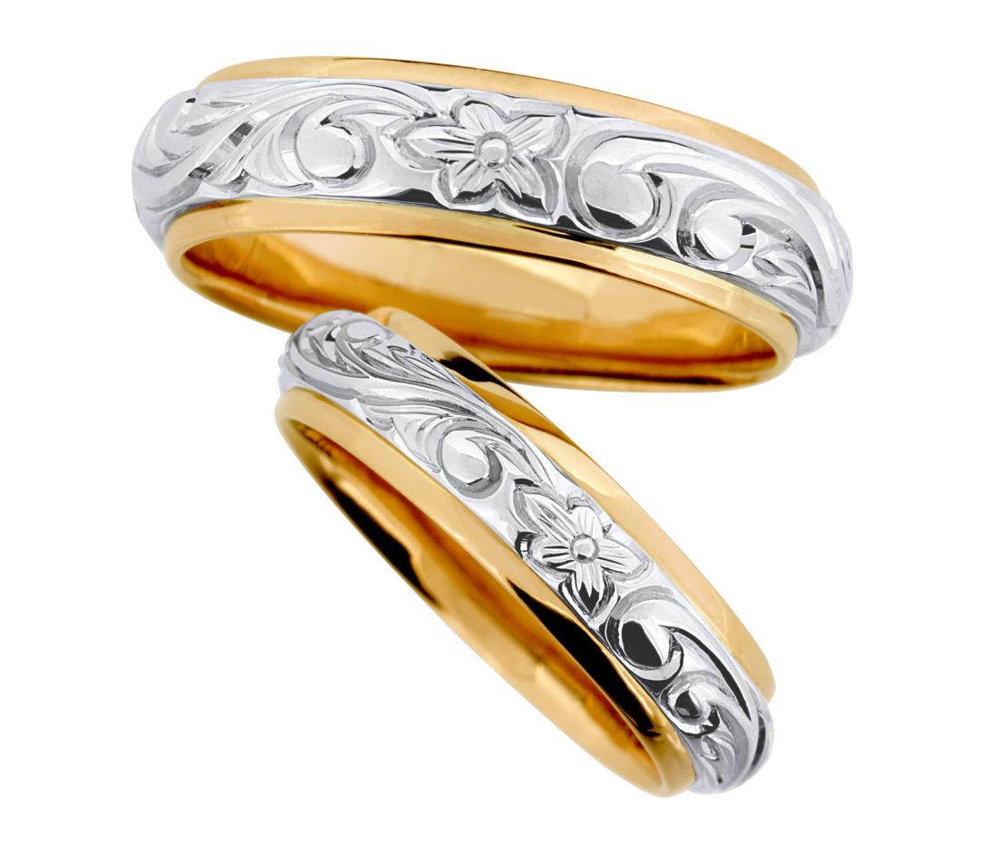 結婚指輪 プルメリア plumeria